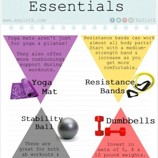 At Home Workout Essentials – An Infographic