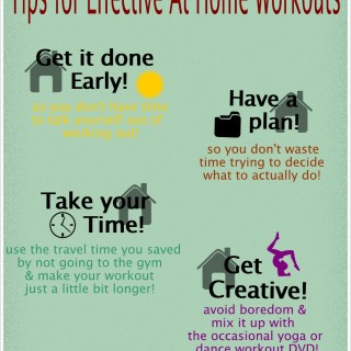 How to Exercise at Home Effectively (Infographic) and Happy Birthday to ME!