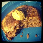 PB Oatmeal Brownie Pancake