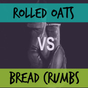 Substituting Rolled oats for Bread Crumbs and why you should via @ExSloth | ExSloth.com
