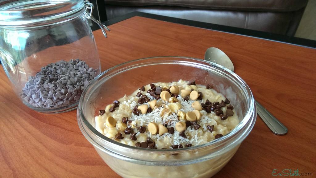 coconut cookie dough oats