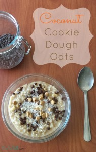 coconut cookie dough oats recipe