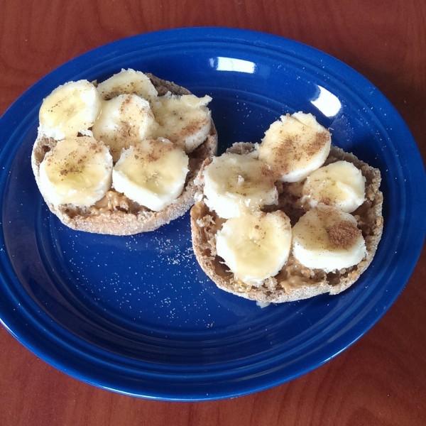 PB & Banana on English Muffin | ExSloth.com