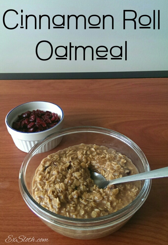 cinnamon roll oatmeal recipe | ExSloth.com