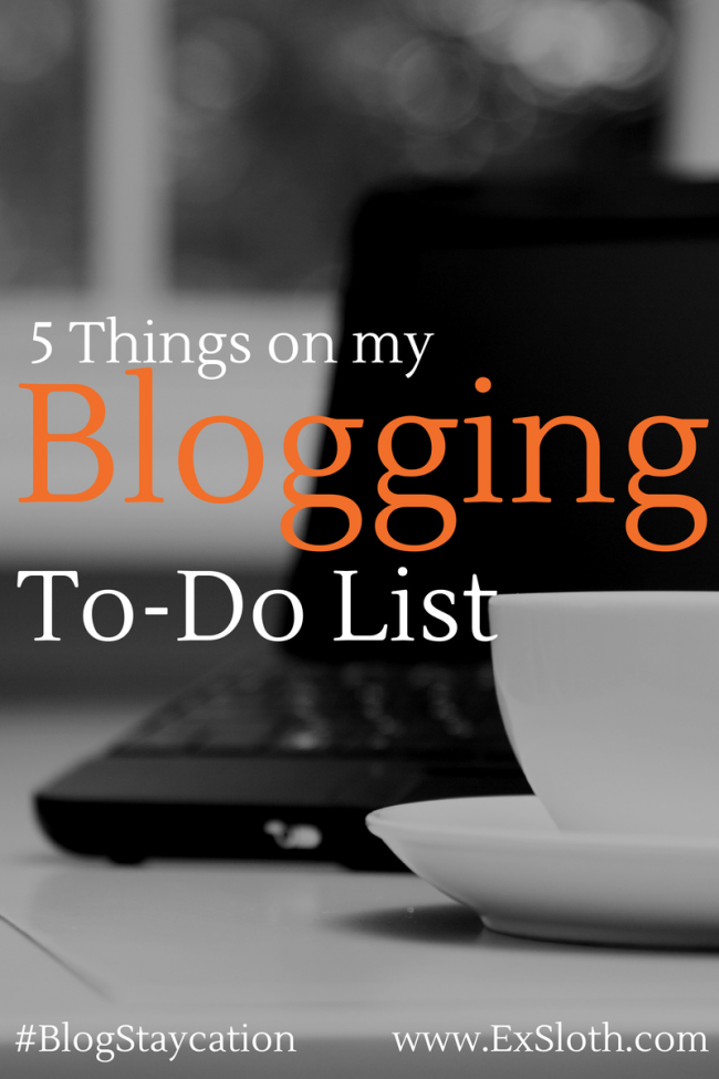 Blog To-Do-List | @ExSloth