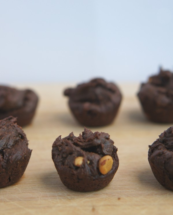 Flourless, Vegan Two Bite Brownies Recipe | @ExSloth