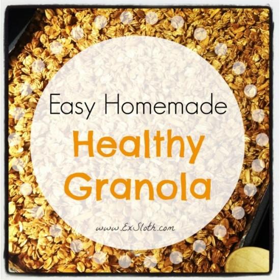 easy homemade healthy granola #recipe | @ExSloth