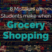8 Grocery Shopping Mistakes Student Make | @ExSloth