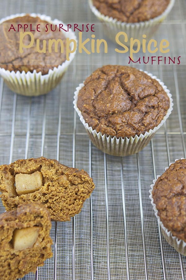 Apple Surprise Pumpkin Spice Muffins via @ExSloth | ExSloth.com