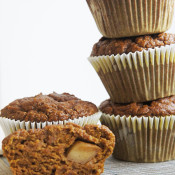 apple surprise pumpkin spice muffins @ExSloth ExSloth.com