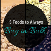 5 Foods to Always buy in Bulk via @ExSloth | ExSloth.com