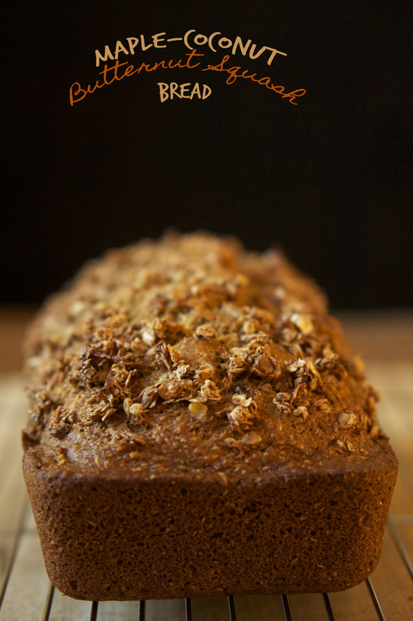 Maple Coconut Butternut Squash Bread via @ExSloth | ExSloth.com