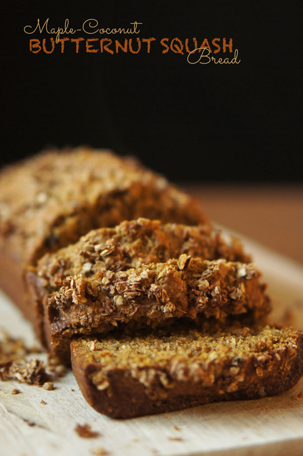 Maple Coconut Butternut Squash Bread via @ExSloth | ExSloth.com