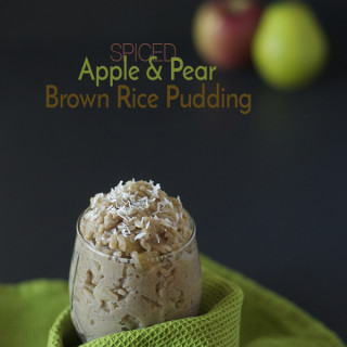 Spiced Apple & Pear Brown Rice Pudding