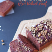 Beet and Walnut Red Velvet Loaf via @ExSloth | ExSloth.com