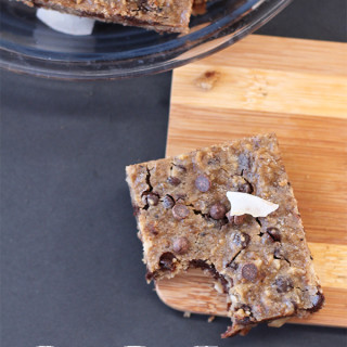 Lucky Black-Eyed Peas Chocolate Chip Blondies