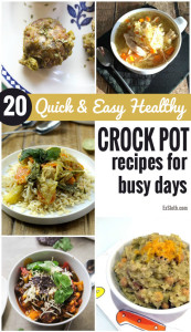 These 20 Crock Pot meals will make it easy to whip up healthy meals while busy studying or prepping for the holiday season via @ExSloth | ExSloth.com