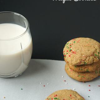 Dairy-Free Christmas Maple Cookies