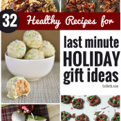 These 32 Healthy Recipes will make it easy to whip up last minute edible holiday gifts via @ExSloth | ExSloth.com #Christmas #holiday