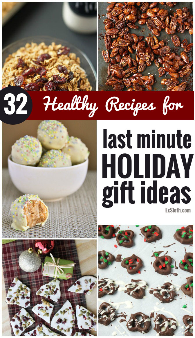 these 32 healthy recipes will make it easy to whip up last minute edible holiday gifts