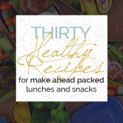 Don't let your lack of healthy food choices at derail your resolutions. Here are 30 ideas for healthy packed lunches and snacks for a healthier workday via @ExSloth | ExSloth.com #newyear #resolutions #healthyeating