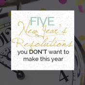 5 Health Related New Year's Resolutions you not to make this year via @ExSloth | ExSloth.com