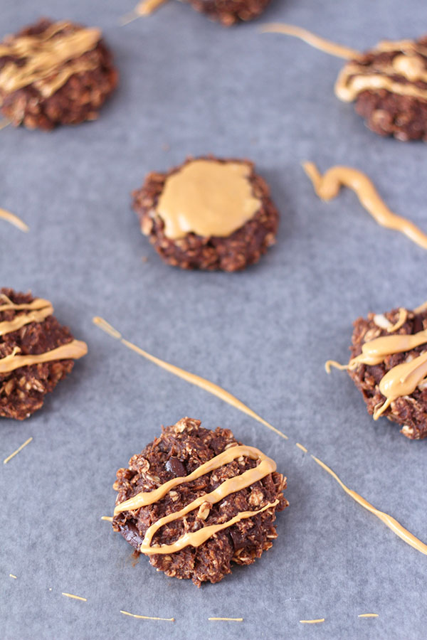 These Almond-Chocolate Breakfast Biscuits are crunchy on the outside, soft on the inside, full of fibre and slightly sweet. Perfect for breakfast or a midmorning snack via @ExSloth | ExSloth.com #breakfast #cookies #healthy