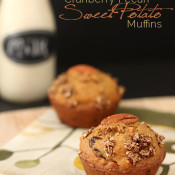 These Dairy-freee Cranberry Pecan Sweet Potato Muffins are dense and free of refined sugars. The perfect comfort food for warm winter days via @ExSloth | ExSloth.com