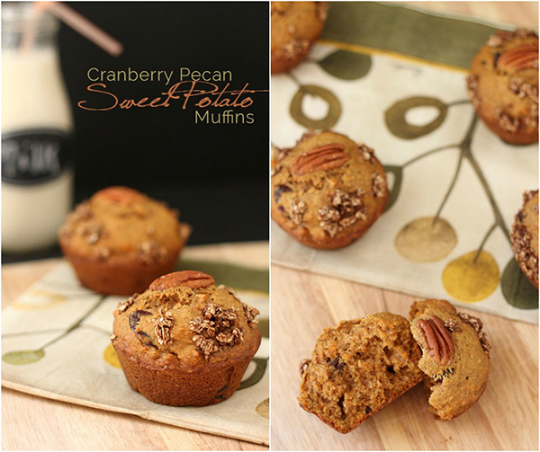 Cranberry Pecan Sweet Potato Muffins FB2