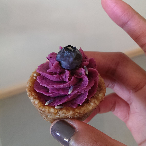Raw Vegan Blueberry Lavender Tarts | Unbaked Cake Co.