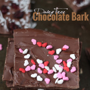 Skip the store bought candies this year and celebrate Valentine's Day a little healthier with this simple, customizable Dairy-Free Chocolate Bark recipe @ExSloth | ExSloth.com