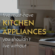 Make the most of limited kitchen space diary of an exsloth for Must have appliances