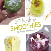 20 Delicious Healthy Smoothie Recipes for quick and easy breakfasts this summer via @ExSloth | ExSloth.com