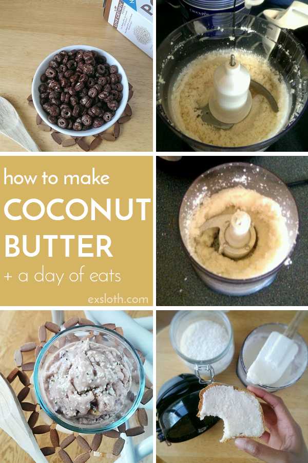 Want to make your own coconut butter? Here's my experience making this delicious vegan, dairy free butter via @ExSloth | Exsloth.com