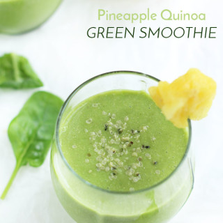Pineapple Quinoa Green Smoothie