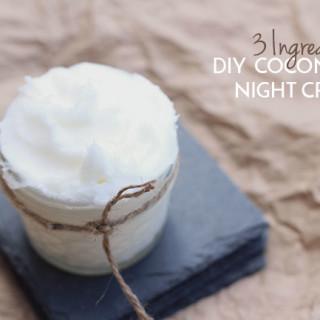 DIY Coconut Oil Night Cream (3 Ingredients)