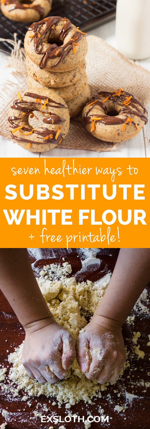 7 healthier ways to replace white flour when baking (whole wheat, spelt, oats and mroe) via @ExSloth | ExSloth.com