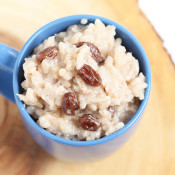 Vegan Slow-Cooked Coconut Raisin Rice Pudding via Ricardo Cuisine and @ExSloth | ExSloth.com