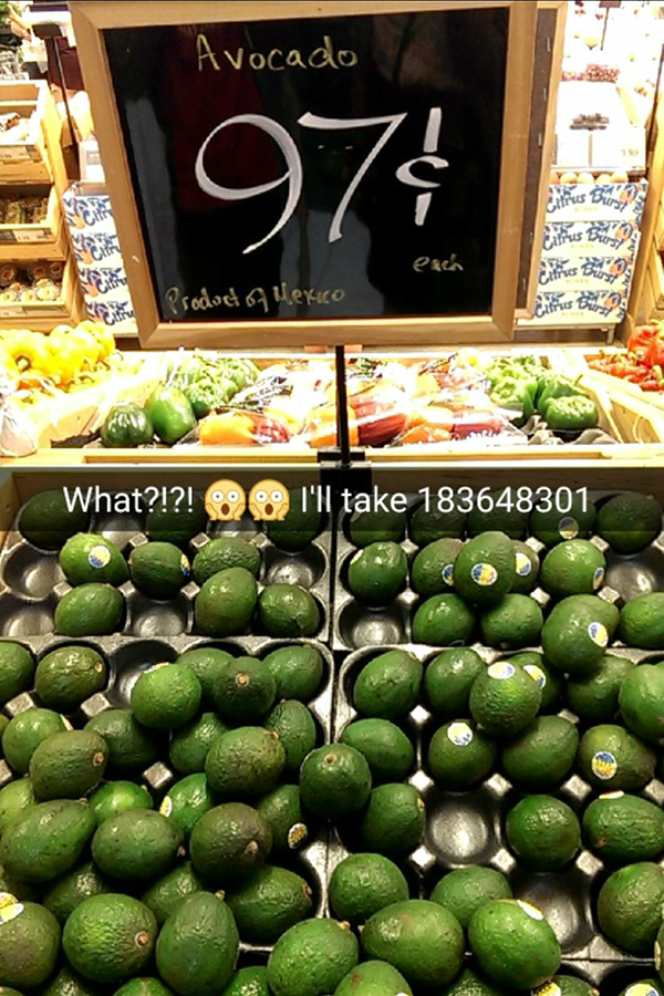 avocados on sale