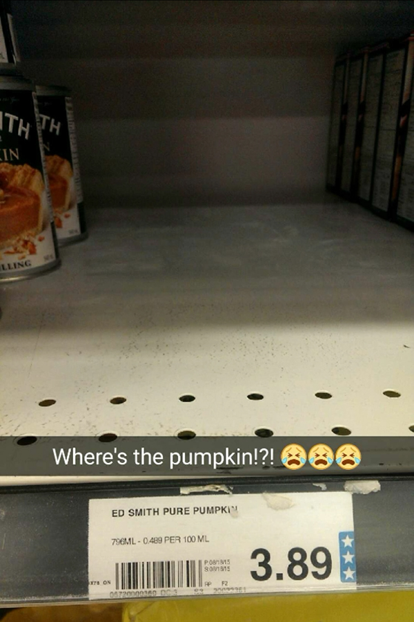 no pumpkin