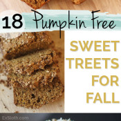 18 Pumpkin Free Dessert and Snack Recipes to enjoy this fall via @ExSloth | ExSloth.com