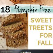 18 Pumpkin Free Dessert and Snack Recipes to enjoy this fall via @ExSloth | ExSloth.com