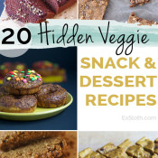 20 healthy hidden veggie snack and dessert recipes via @ExSloth | ExSloth.com