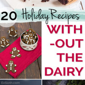 20 Healthy and Decadent Dairy Free Holiday Recipes via @ExSloth | ExSloth.com
