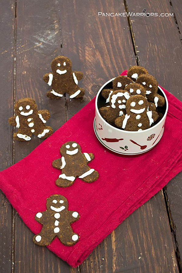Pumpkin Gingerbread Cookies via Pancake Warriors