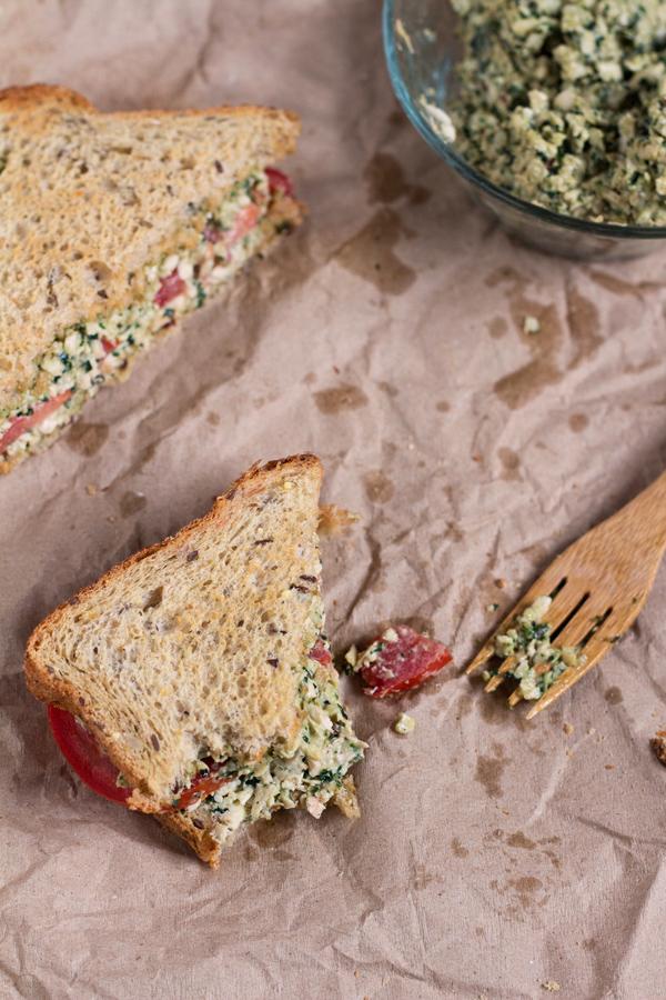 Vegan Tofu Pesto Sandwich via @ExSloth | ExSloth.com