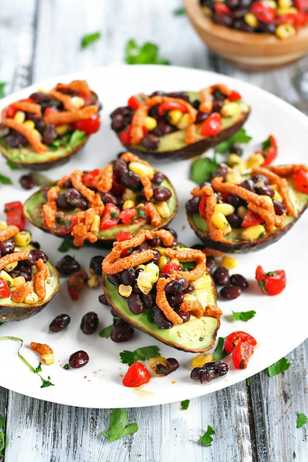 Mexican Stuffed Avocados via Emilie Eats