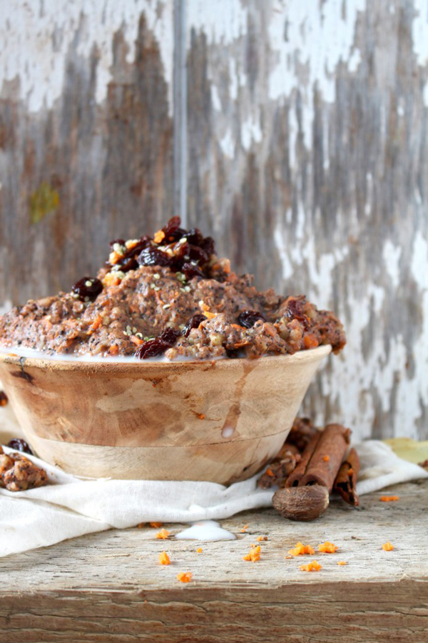 Carrot Poppy Seed Buckwheat Porridge via Chronicles of Passion