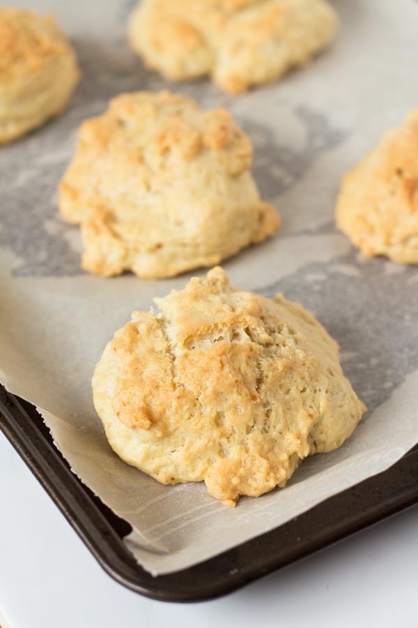 Easy Vegan Drop Biscuits via @ExSloth | ExSloth.com