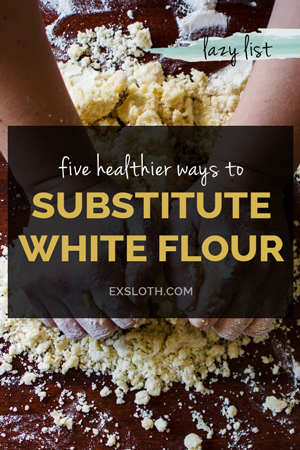 5 healthier white flour replacements for baking via @ExSloth | ExSloth.com